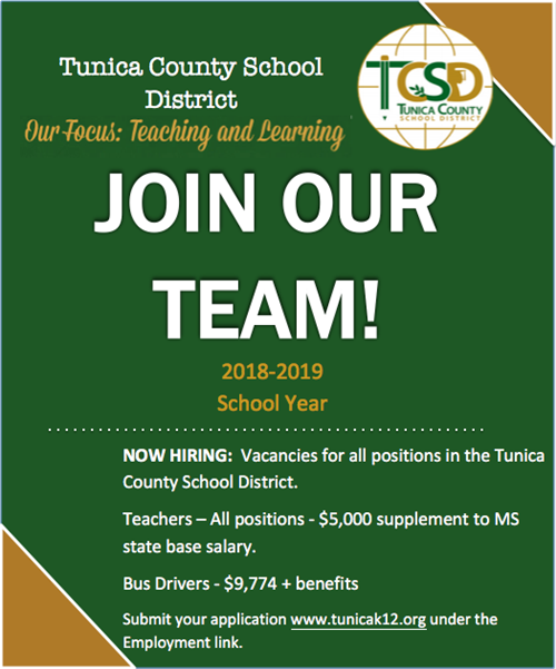 TCSD Announces Job Opportunities For Teachers and Bus