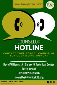 DWJCTC Counselor Hotline