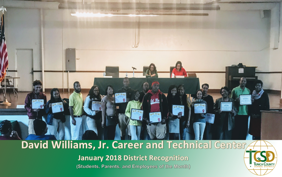 DWJCTC January 2018 Recognitions