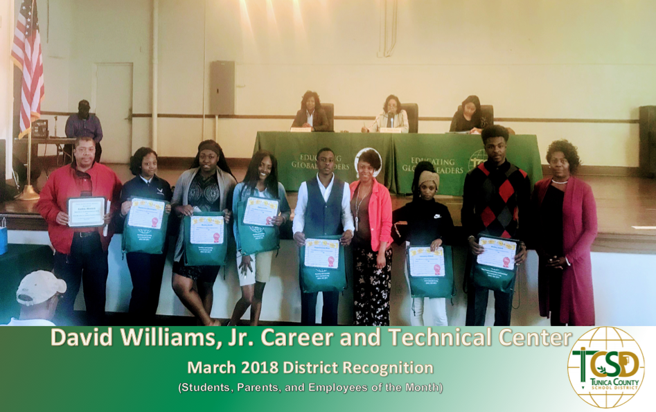 DWJCTC March 2018 Recognitions