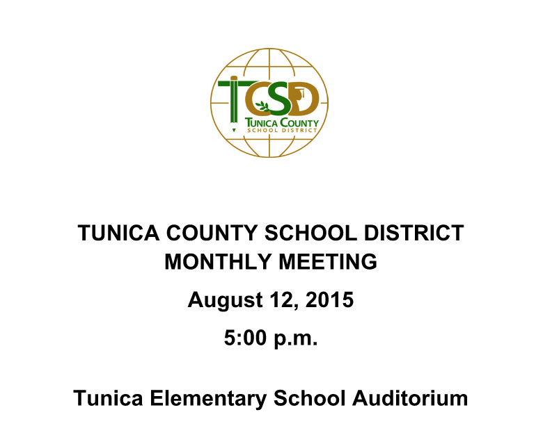TCSD Announces Monthly Meeting