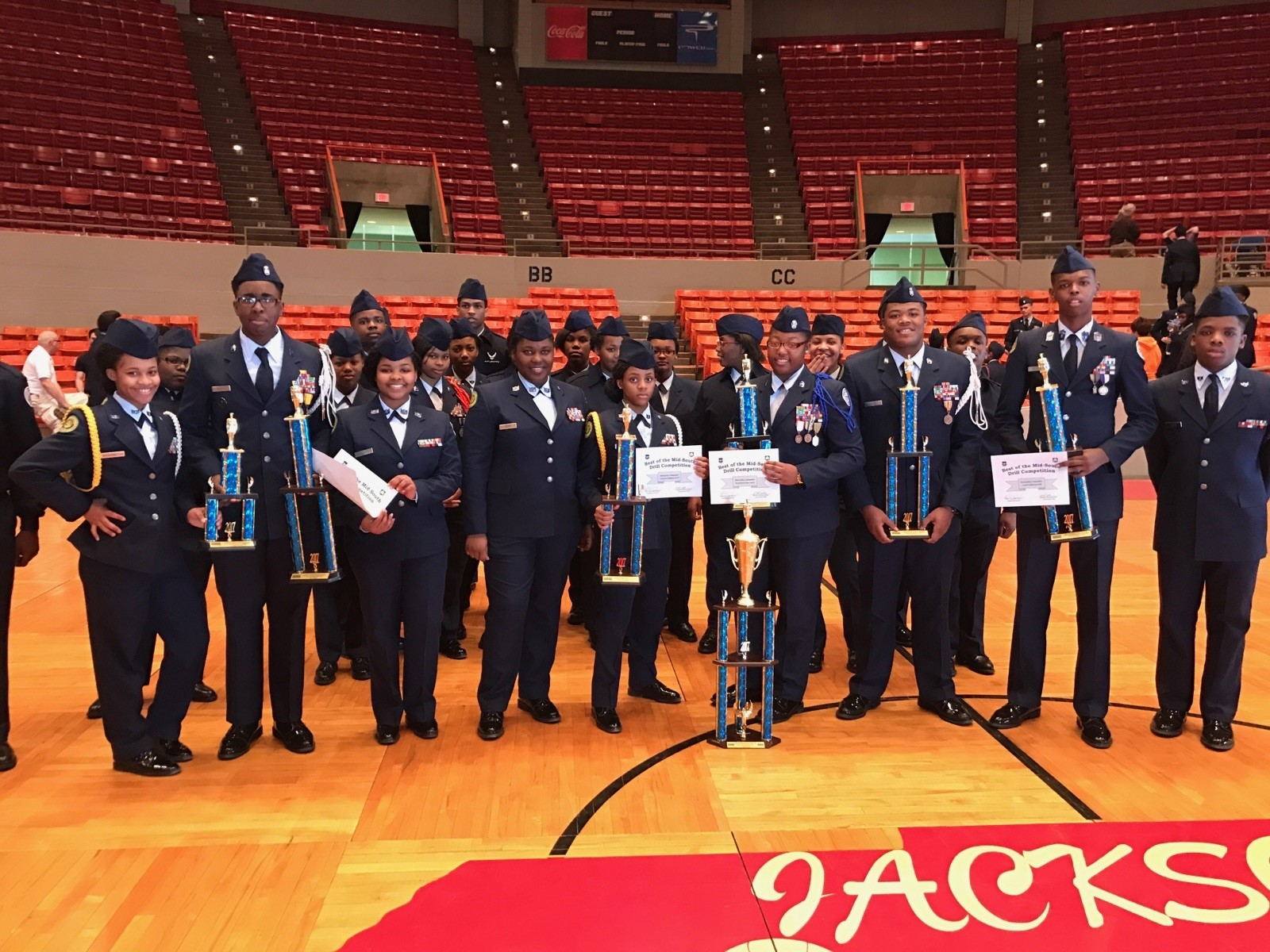 MS-951 Air Force JROTC Places 2nd Overall in Drill Team Competition