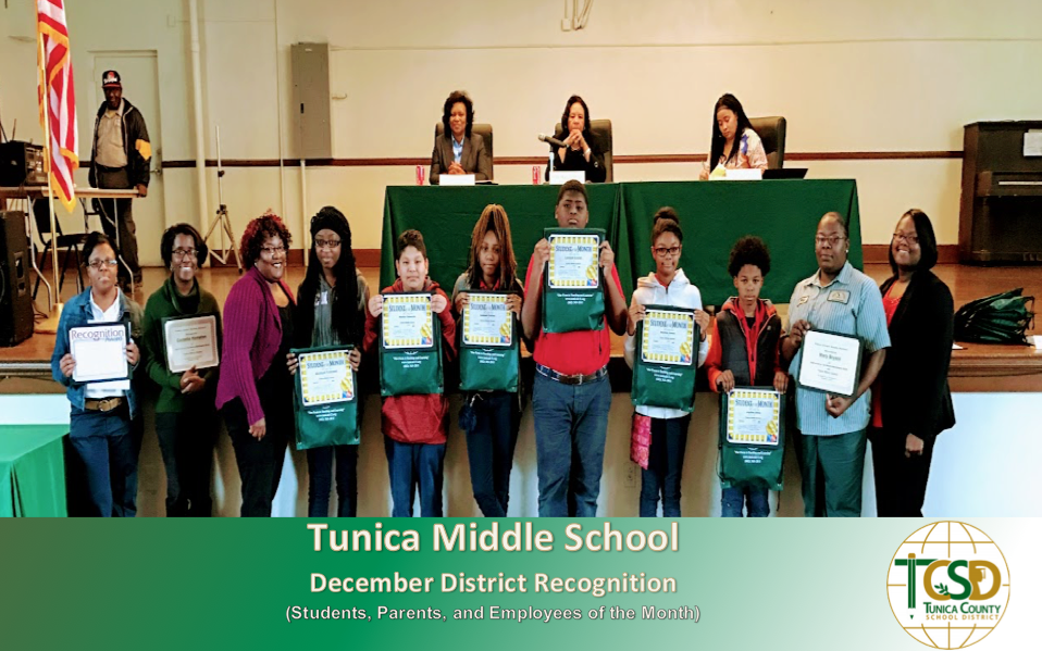 TMS Recognizes December Students, Parents, and Employees of the Month