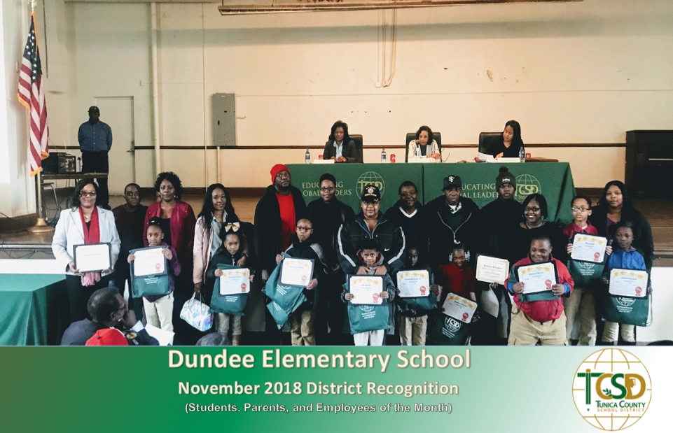 DES November 2018 Recognitions
