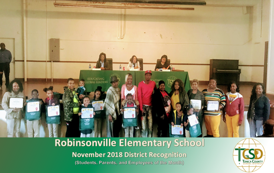 November 2018 Recognitions